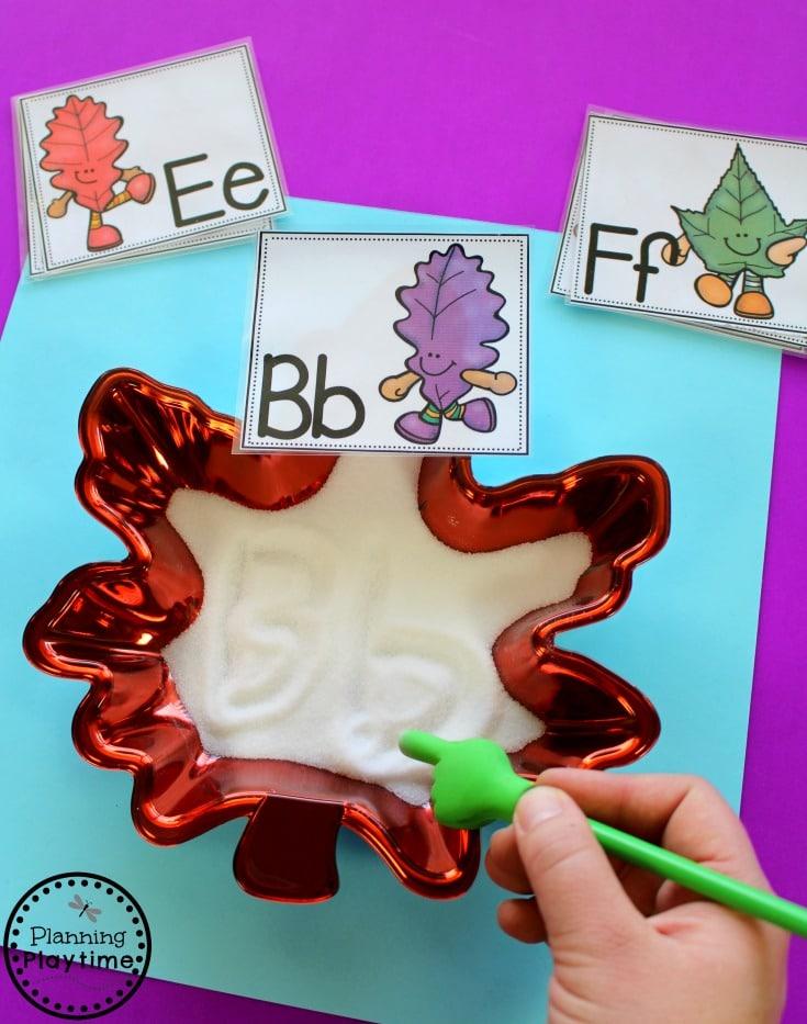 Preschool Letter Writing Practice Activity - Fall Preschool Unit.