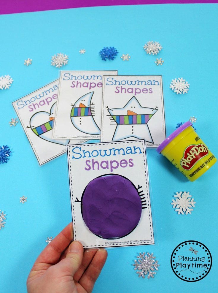 Preschool Shapes Activity for winter. So cute!!