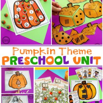 Pumpkin Theme for Preschool #preschooltheme #pumpkintheme #planningplaytime #preschoolworksheets