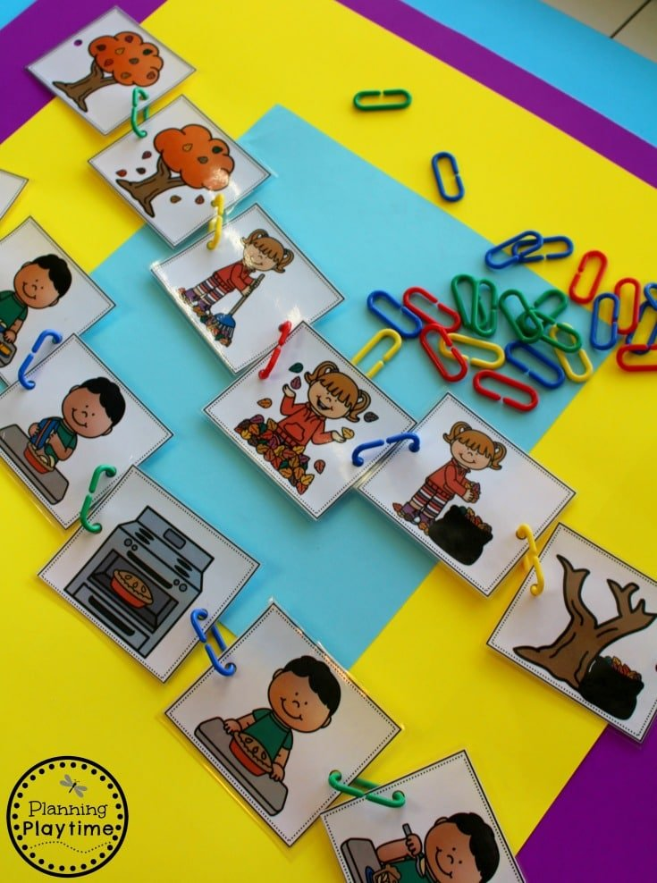 Sequence Story Cards for Preschool.