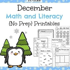 Christmas Worksheets for First Grade