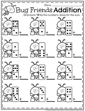 Addition Worksheets on Subtraction Number Bonds