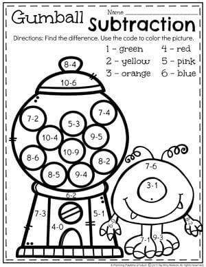subtraction worksheets  planning playtime subtraction worksheets this kindergarten