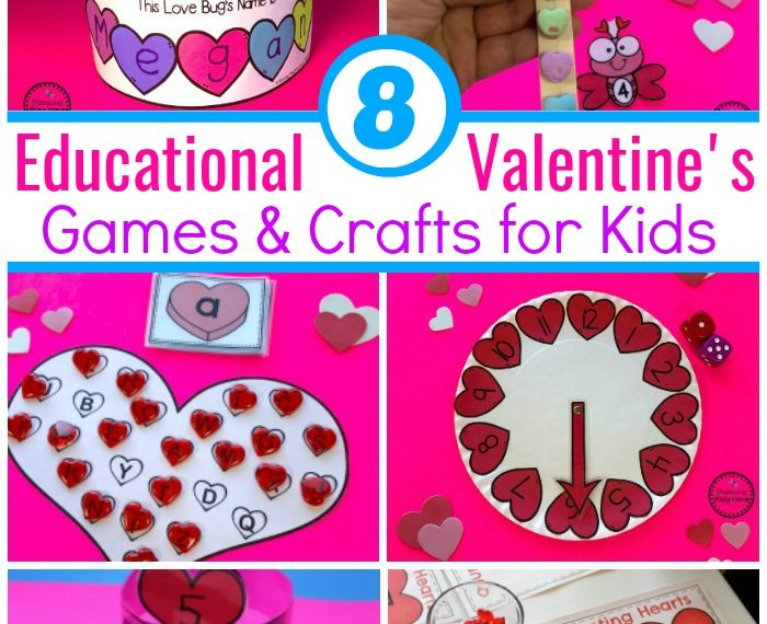 Fun Valentine's Games and Crafts for Preschool or Kindergarten. #kidsgames #valentinesday #preschool #kindergarten