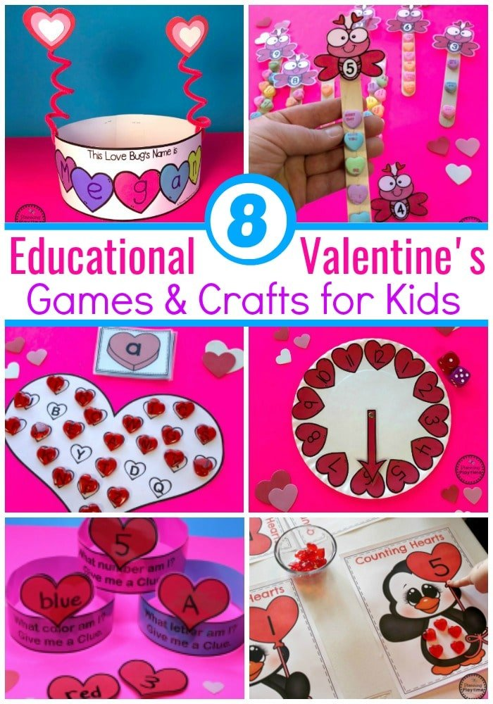 Fun Valentines Games And Crafts For Preschool Or Kindergarten Kidsgames Valentinesday