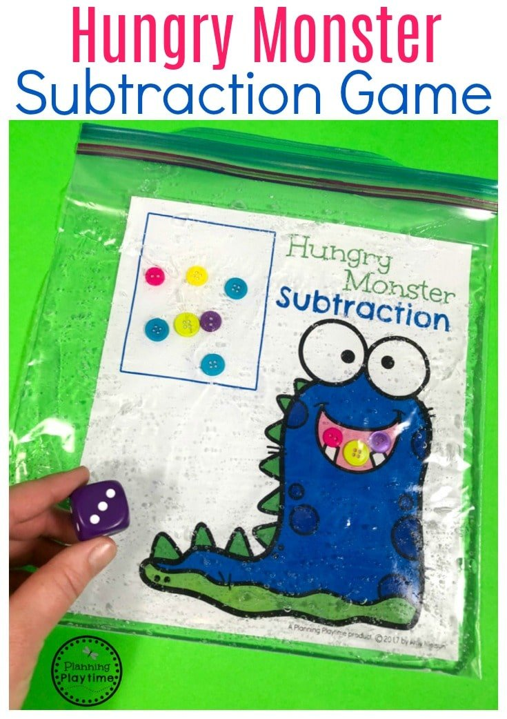 Kindergarten Subtraction Game - Subtraction Under 10