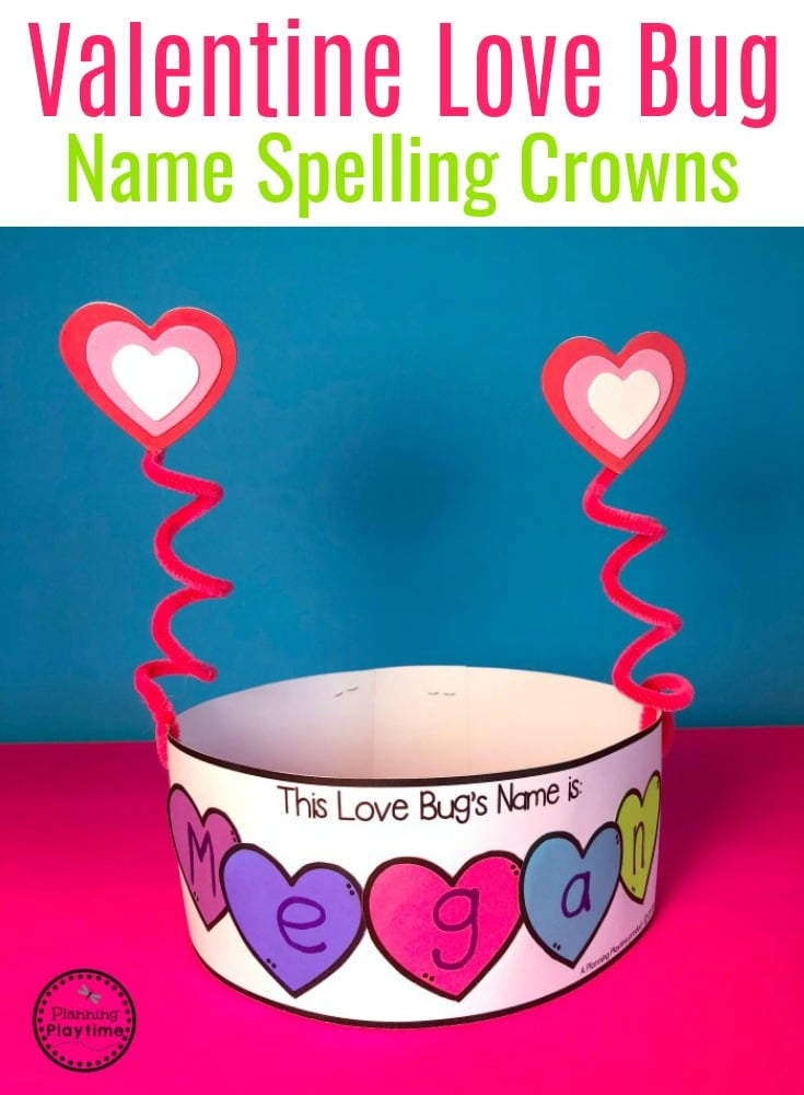 Love Bug Crowns for Valentine's Day - Preschool or Kindergarten #valentinesday #preschoolcraft #preschool