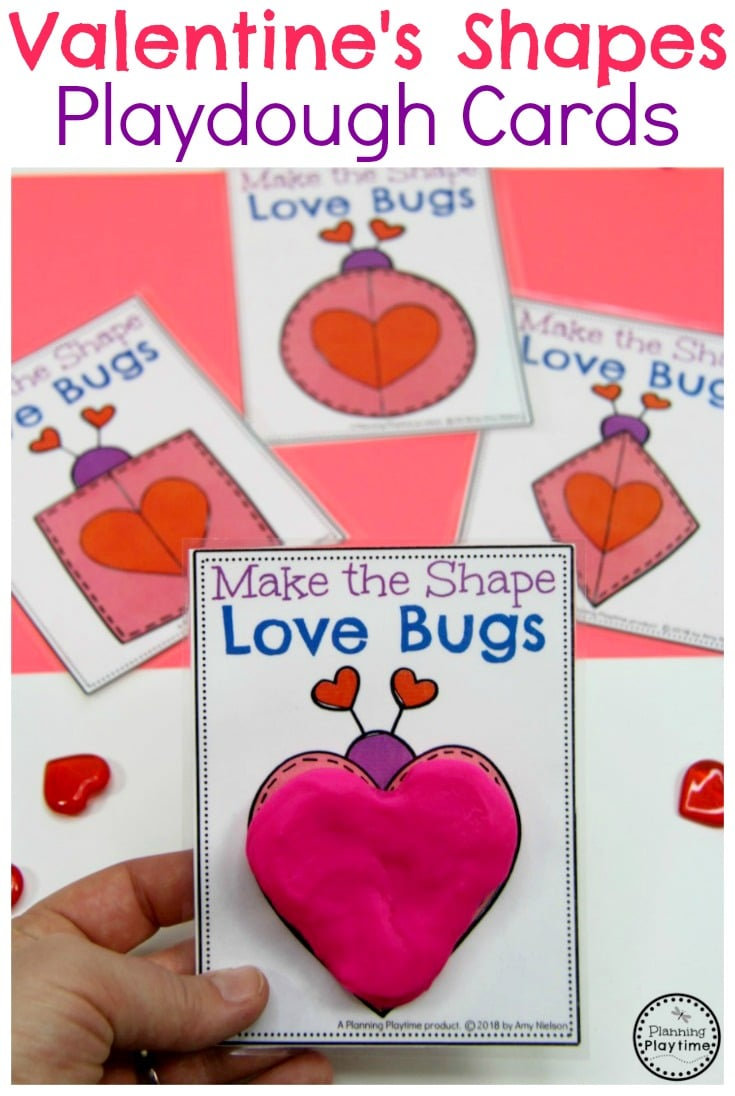 Preschool Shapes Activity for Preschool. So fun! #valentines #preschoolworksheets #valentinesworksheets