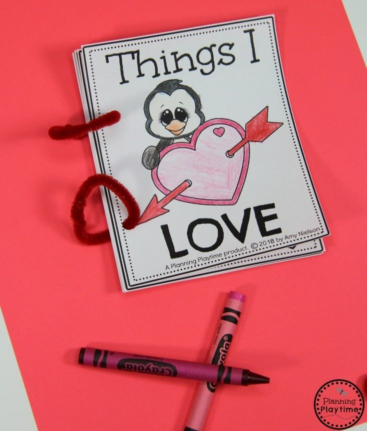 Things I Love Book for Preschool