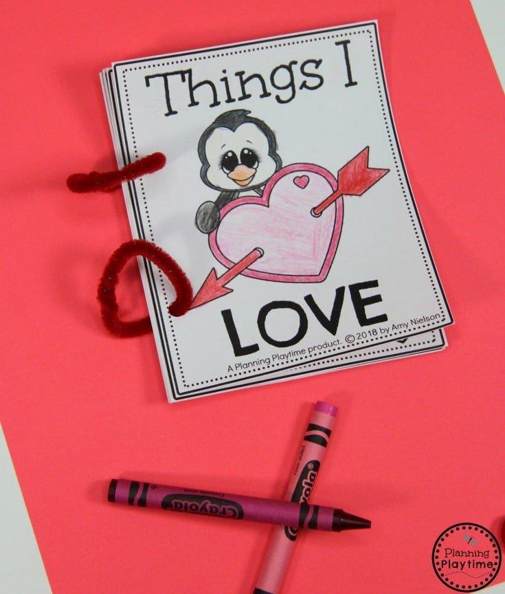 Things I Love Book for Preschool