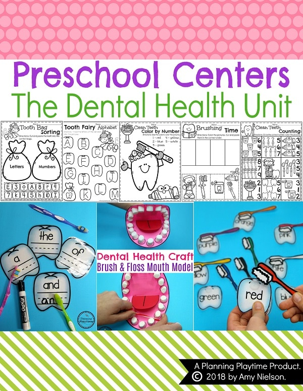 Preschool Dental Health Activities