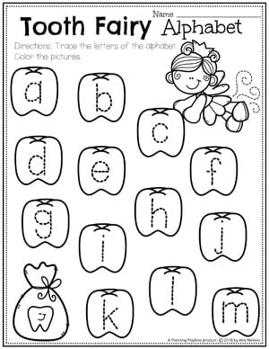 Preschool dental health planning playtime dental health worksheets for preschool tooth fairy letter tracing ccuart Images