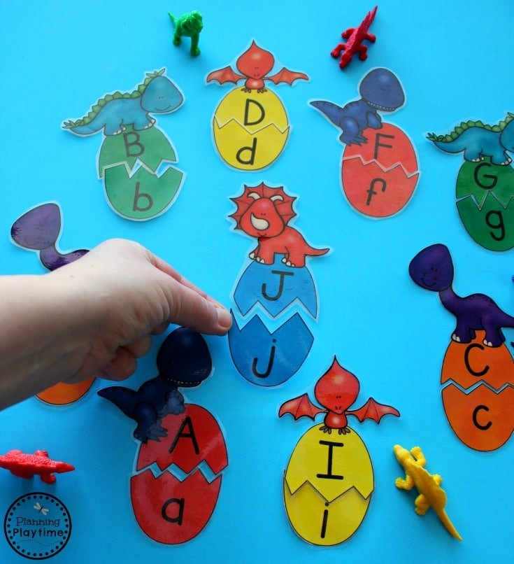 Dinosaur Egg Letter Puzzles for Preschool