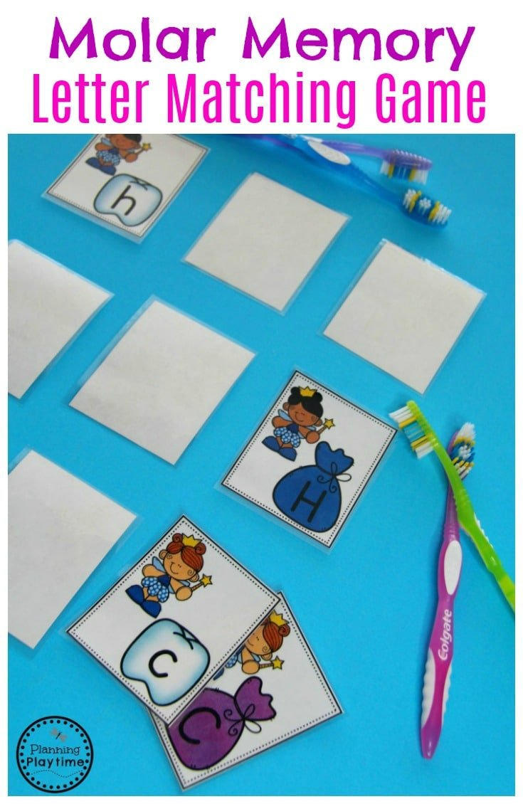 Molar Memory - Letters Game for Dental Health Month