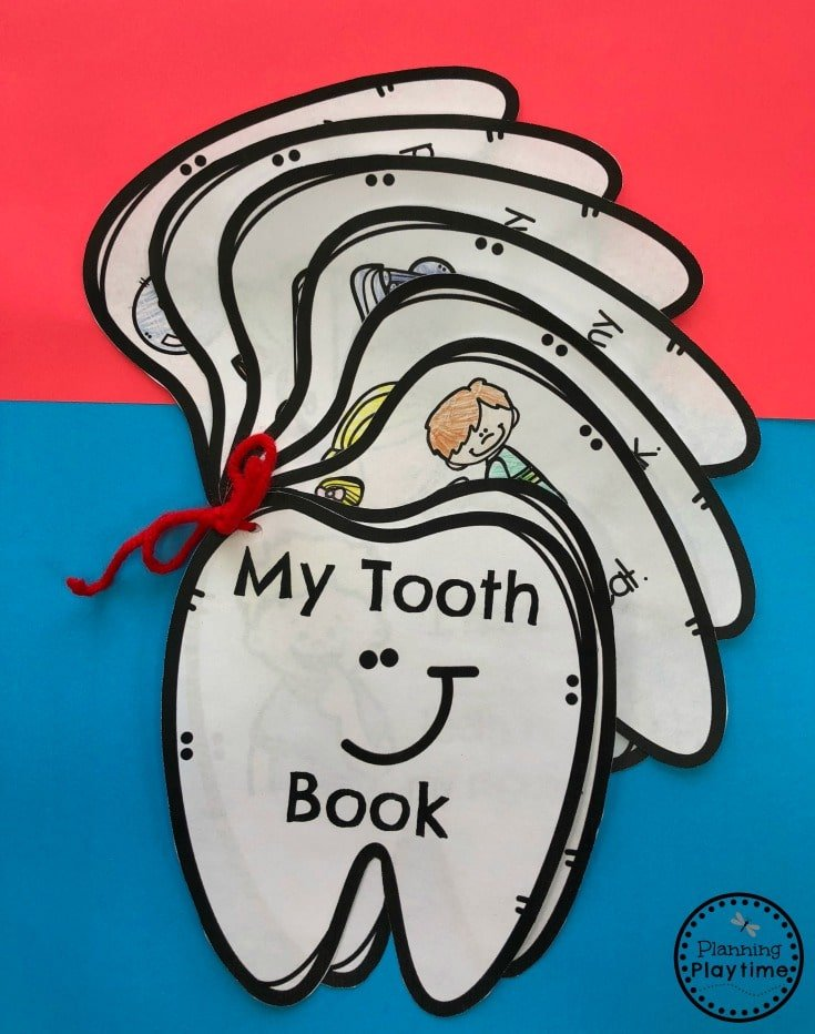 My Tooth Book - Preschool Dental Health Unit. #dentalhealth #preschool #preschoolworksheets #preschoolcenters