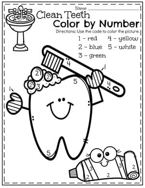 dental coloring pages for preschoolers - photo#19