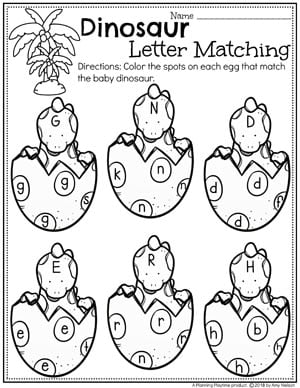 graphic about Dinosaur Matching Game Printable named Dinosaur Preschool Concept - Designing Playtime