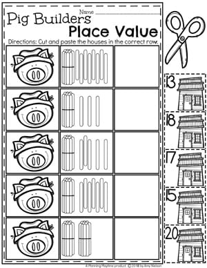 place value worksheets planning playtime. Black Bedroom Furniture Sets. Home Design Ideas