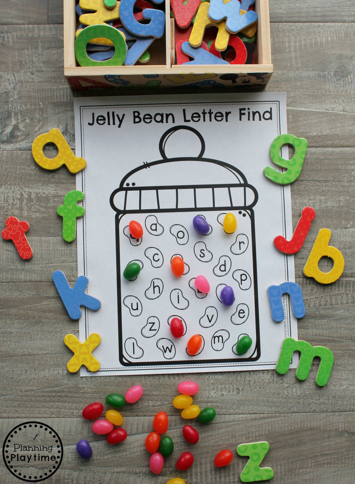 Easter Letter Find Activity for Preschool #easter #preschool #easteractivities #easterpreschool #planningplaytime #letterworksheets #alphabetworksheets