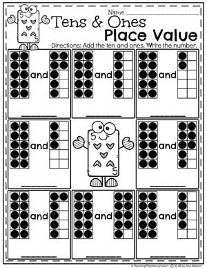 place value worksheets planning playtime. Black Bedroom Furniture Sets. Home Design Ideas