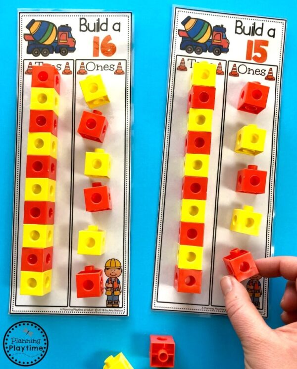 Place Value Activities for Kindergarten - Tens and Ones #placevalue #kindergartenmath #mathgames #kindergartenworksheets #placevaluegames
