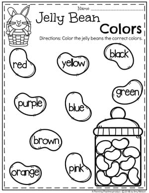 photo relating to Printable Easter Activities called Easter Worksheets - Developing Playtime