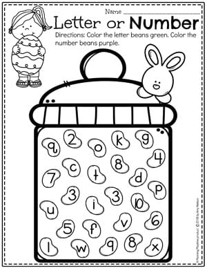 photograph regarding Color by Number Easter Printable named Easter Worksheets - Developing Playtime