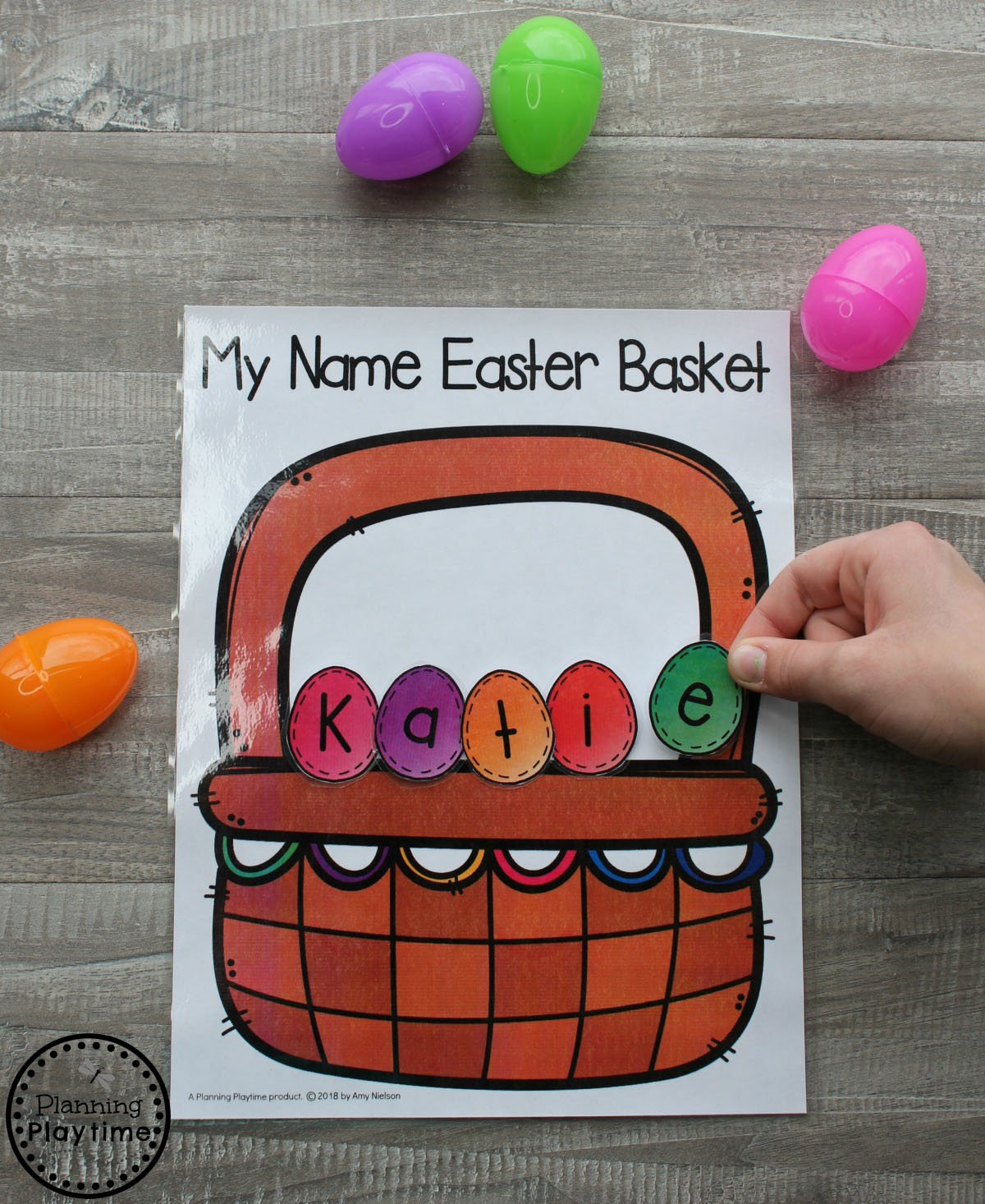 Preschool Name Activity for Easter.
