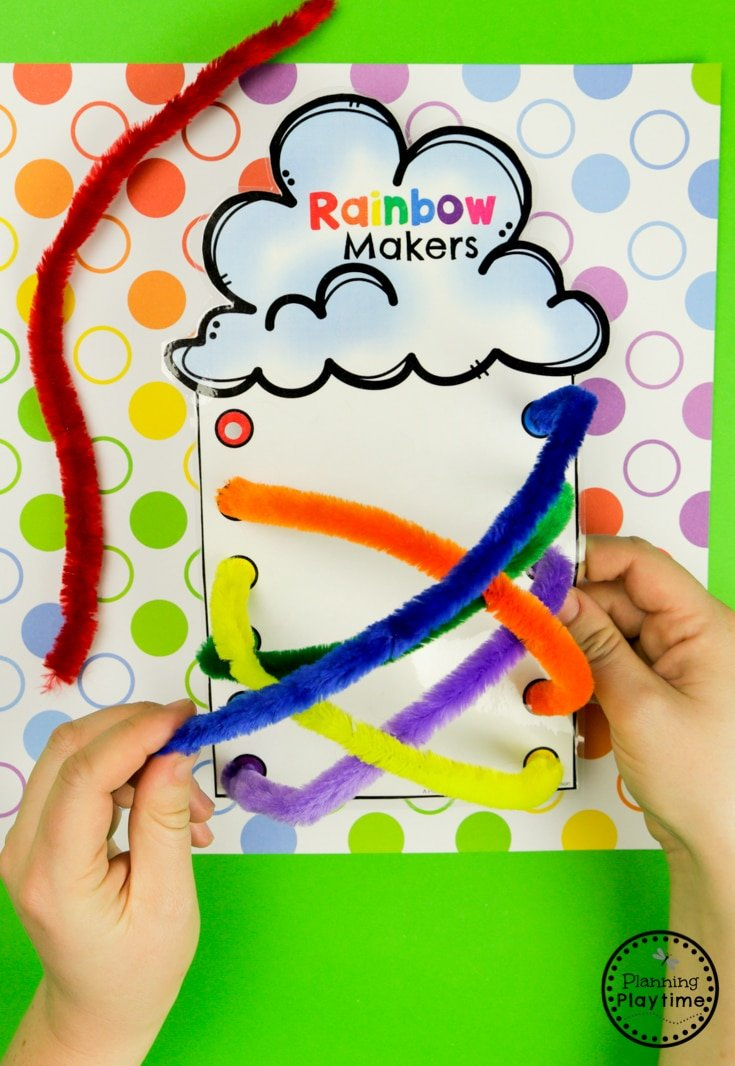 Preschool Rainbow Activities - Rainbow Makers Color Matching #planningplaytime #preschoolactivities #rainbows #preschoolprintables #playbased #preschoolworksheets #rainbowcrafts
