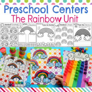 Rainbow Activities for Preschool. #rainbowactivities #rainbowcrafts #preschool #rainbowtheme