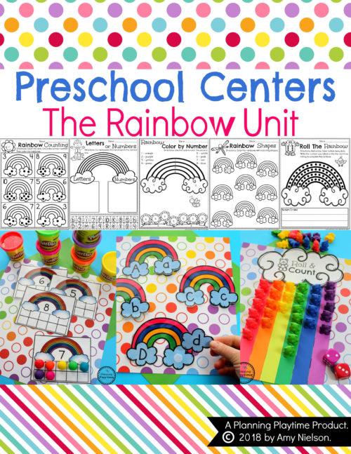 Rainbow Activities for Preschool. #rainbowactivities #rainbowcrafts #preschool #rainbowtheme