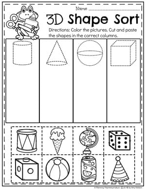 shapes worksheets planning playtime. Black Bedroom Furniture Sets. Home Design Ideas