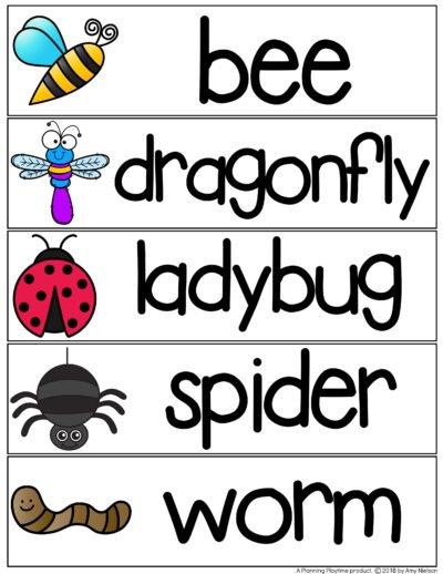 Bug Words Writing Practice #preschool #writetheroom #bugs