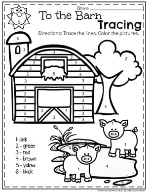 farm coloring pages for preschoolers - photo#23
