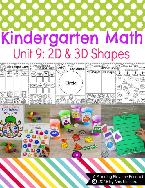 Kindergarten Math Shapes 2d 3d Planning Playtime