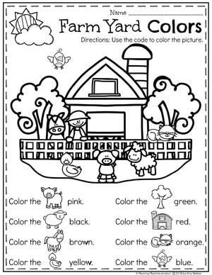 Farm Coloring Page for a Preschool Farm Unit #preschool #farmtheme #springpreschool #preschoolworksheets #preschoolfun #springworksheets