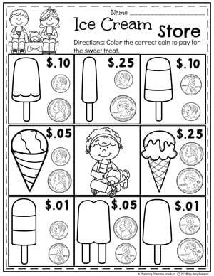 Money Worksheets - Planning Playtime