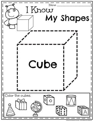 Shapes Worksheets Planning Playtime - View 3D Shapes Kindergarten Worksheet Gif