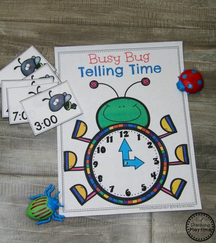 Kindergarten Time Telling Clock on the Hour #kindergartenmath #kindergarten #kindergartencenters #tellingtime
