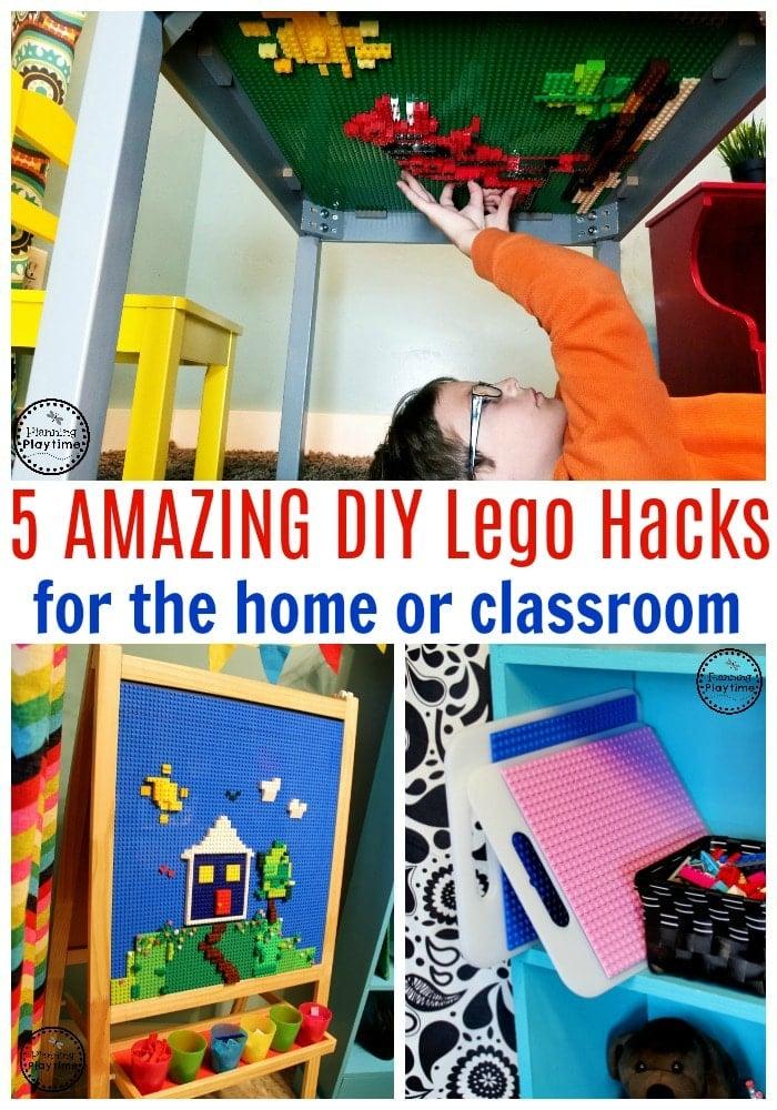 Lego Baseplate Makovers - Awesome Lego Space ideas #lego #legobaseplates #legomakeover #legoideas #legohacks #legoclassroom #ad