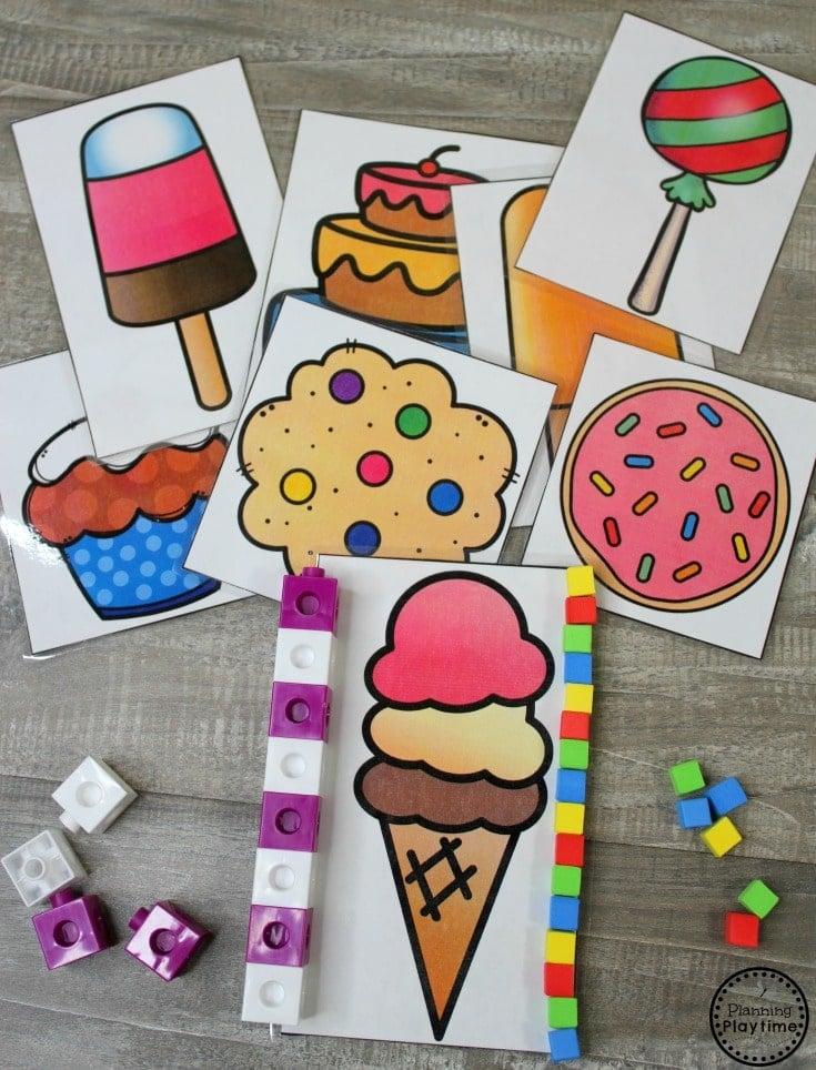 Measurement Games for Kindergarten Math. #kindergartenmath #measurement