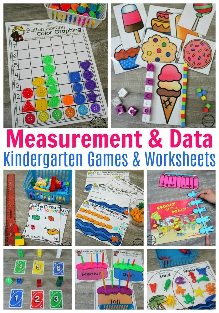 Kindergarten Measurement Worksheets and Activities #kindergartenmath #measurement