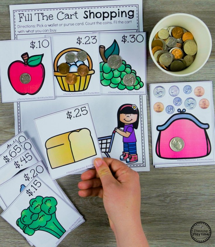 Money and Coins Game for Kids #kindergartenmath #kindergarten #kindergartencenters #coinrecognition