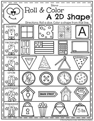 Shapes Worksheets - Planning Playtime