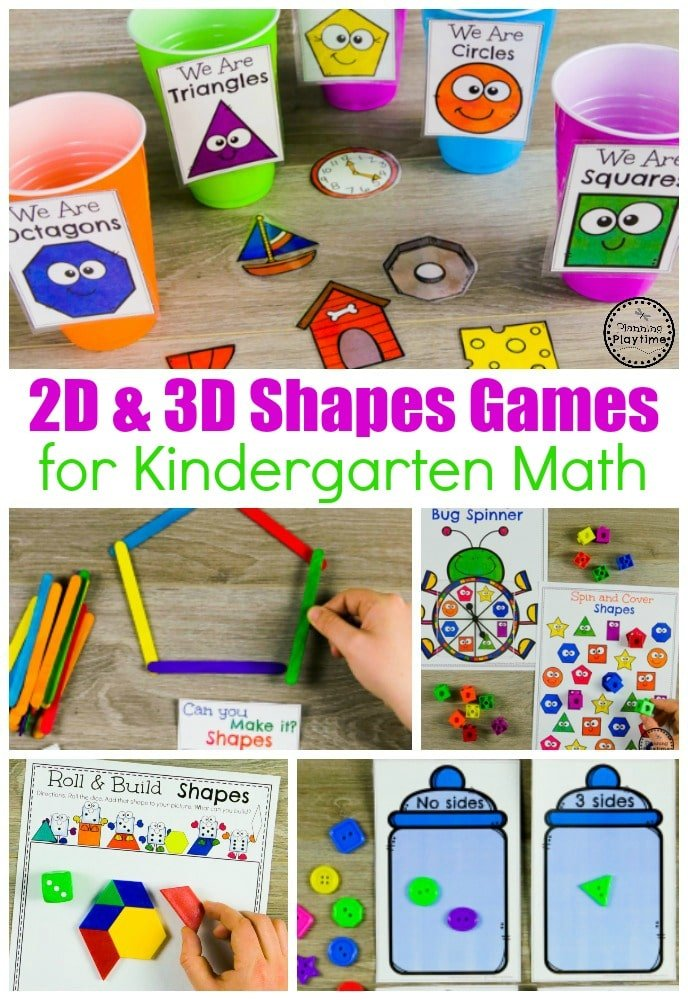 Shapes Worksheets Planning Playtime