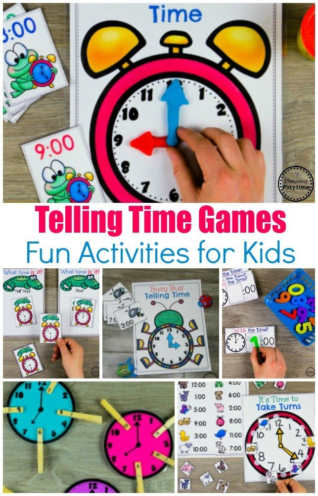 Telling Time Activities for Kids. #kindergartenmath #kindergarten #kindergartencenters #tellingtime