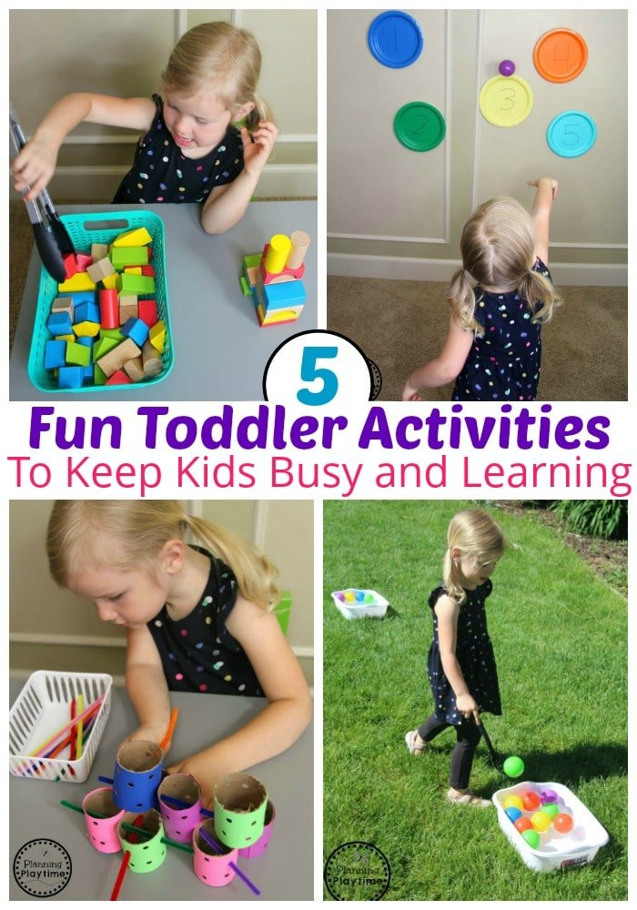 5 Fun Toddler Activities that kids will love. #toddler #toddleractivities #ideasfortoddlers #planningplaytime #ad