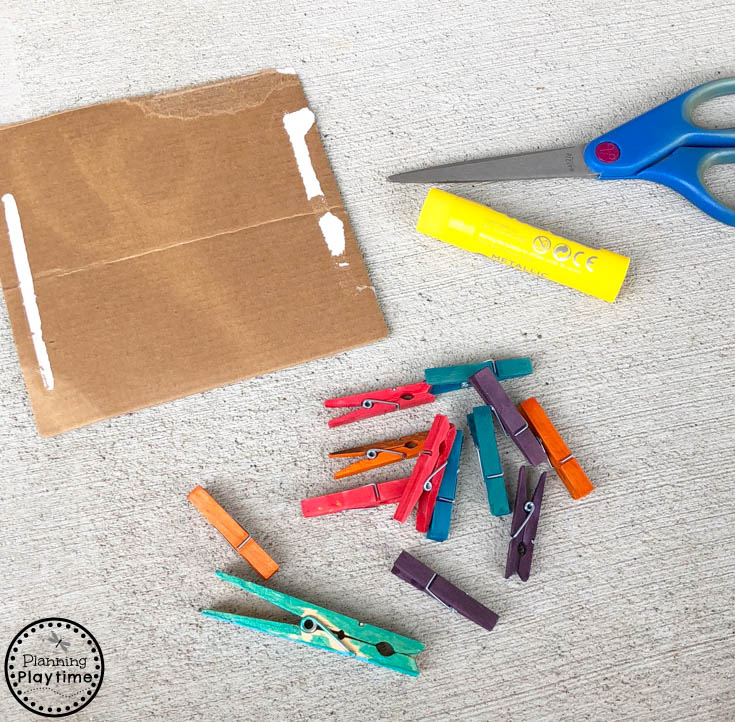Clothespin Crafts for Preschool - Flower Petal Patterns and Fine Motor skills
