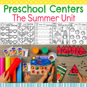 Summer Preschool Games, Centers and Printables