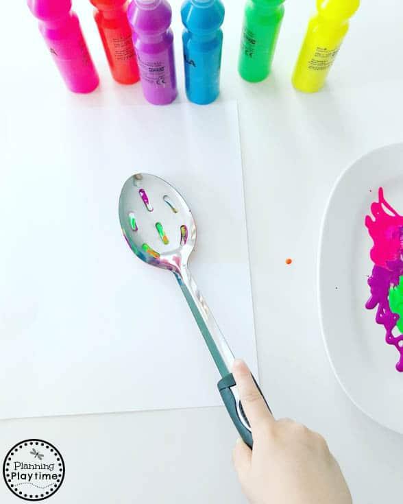 Preschool Process Art Monster craft #monstercrafts #preschoolcrafts #kidscrafts #processart #preschoolart #planningplaytime